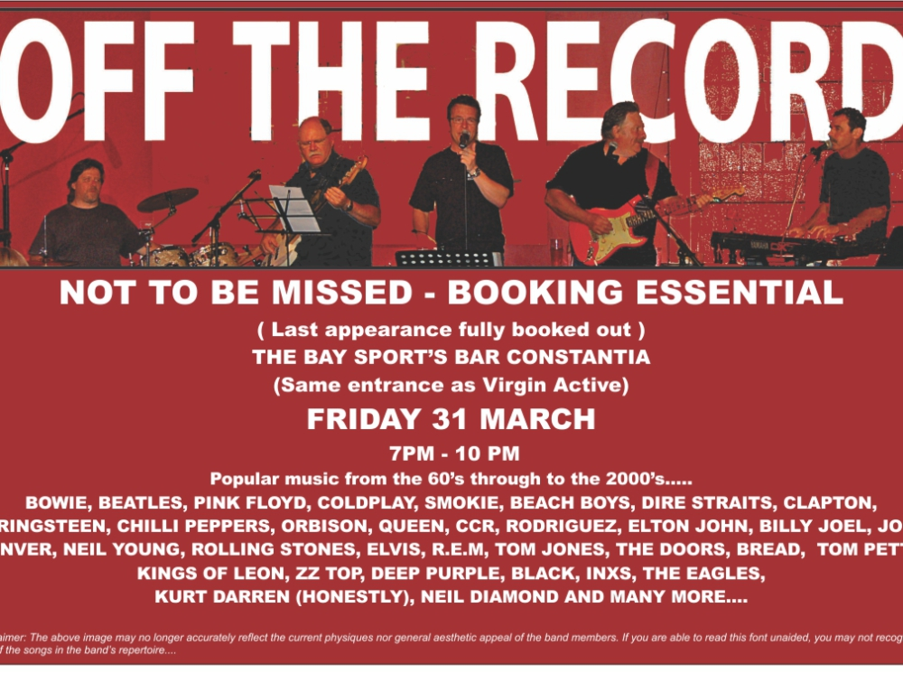 Off The Record- Live at The Bay