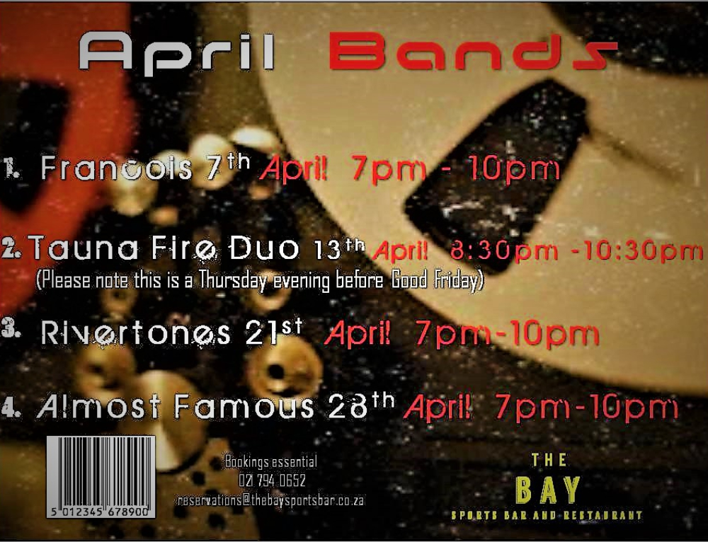 Live Music- April Bands